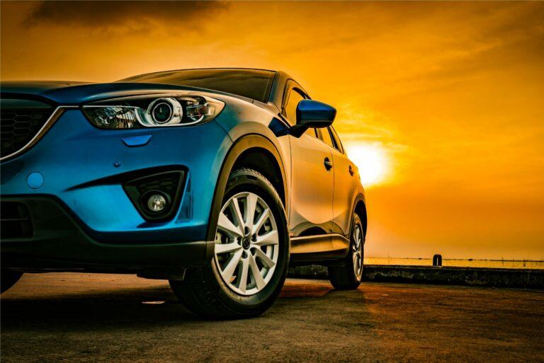 Car Blue Sunset Ocean