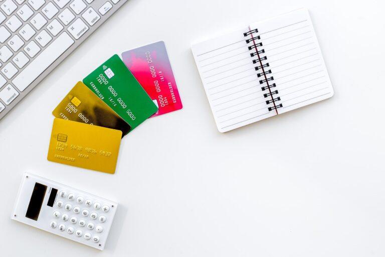 Credit Cards Notebook Calculator Keyboard