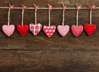 Diy Heart Cloth Cord Valentines Day Decoration