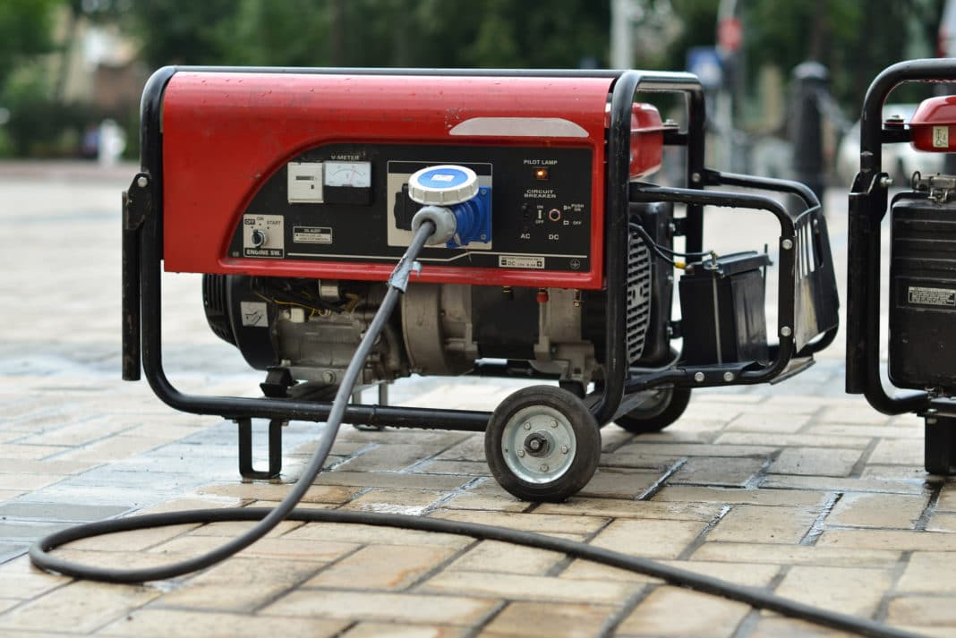 Electric Generator Outdoors