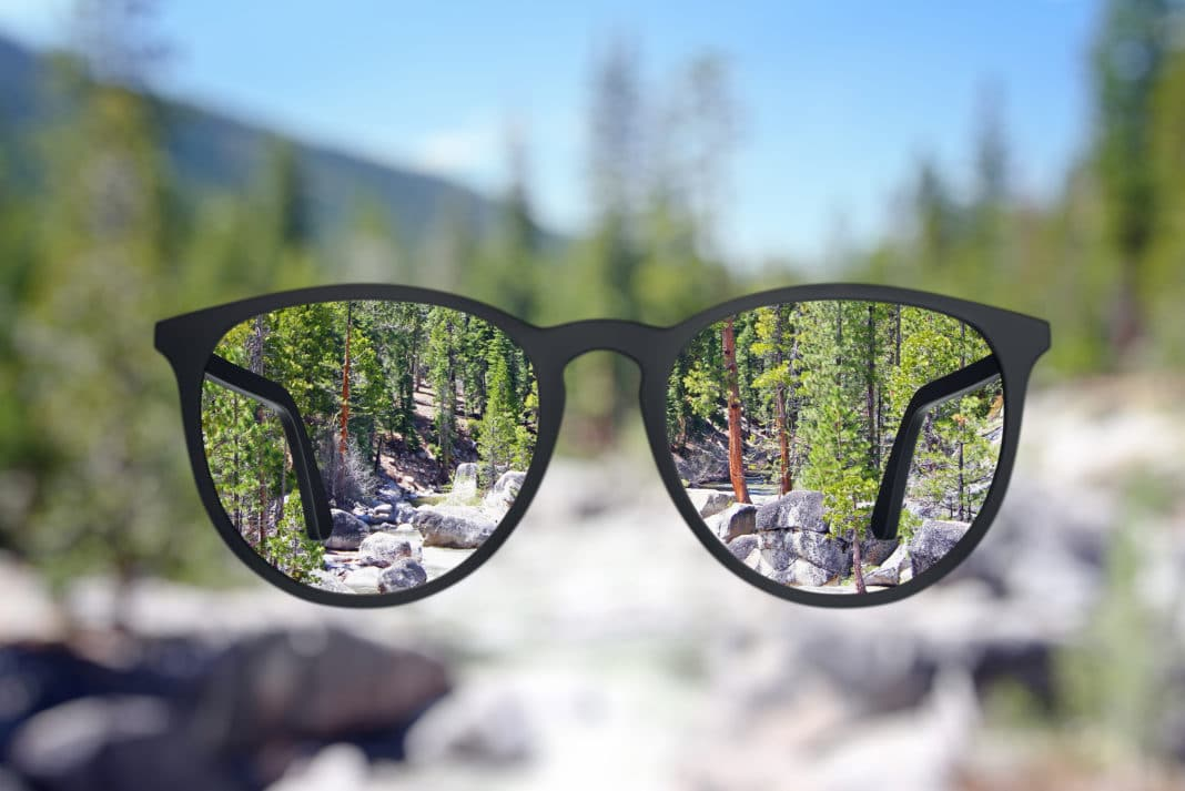 Eyeglasses Blurry Clear Vision Lens Outdoors