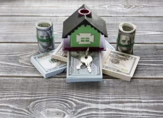 House On Stack Of Cash Bills Keys Real Estate Mortgage Cost Expense