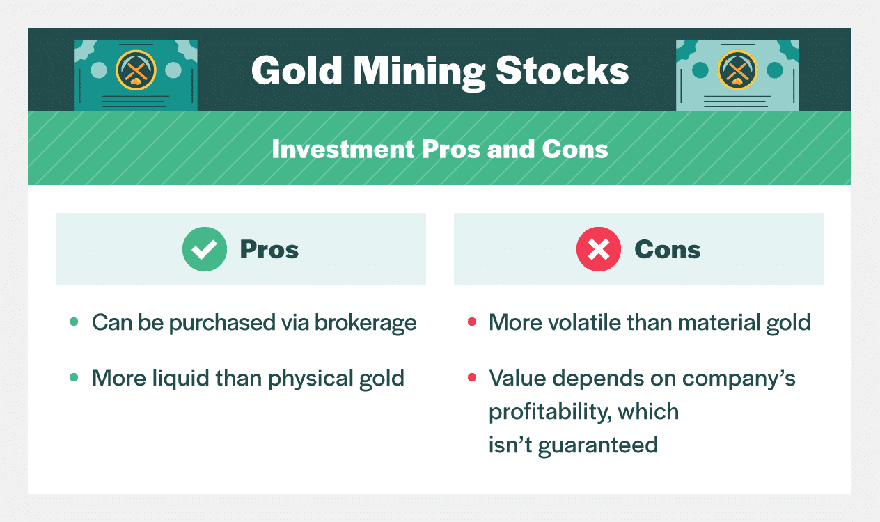 investment pros and cons gold mining stocks