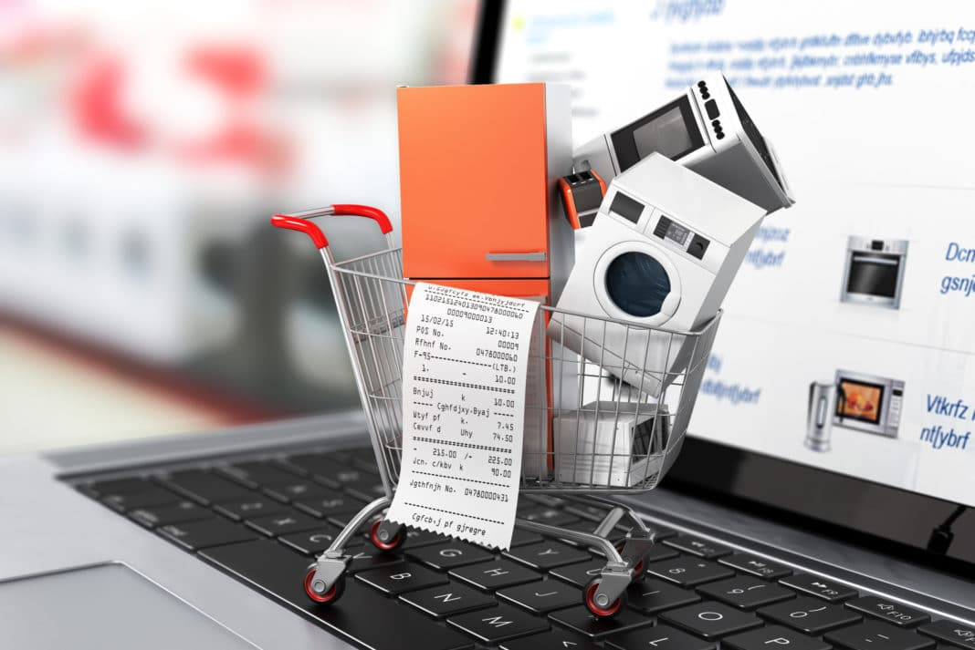 Large Home Appliances Check Out Receipt Shopping Cart Online
