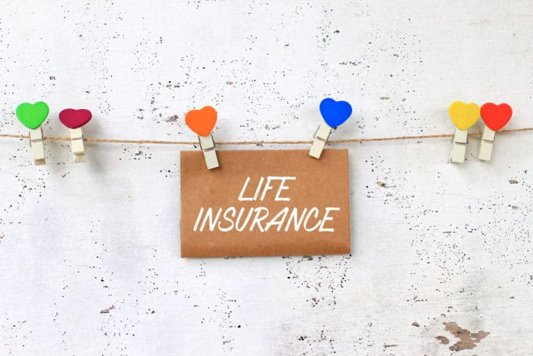 Life Insurance Words On Paper Heart Pins