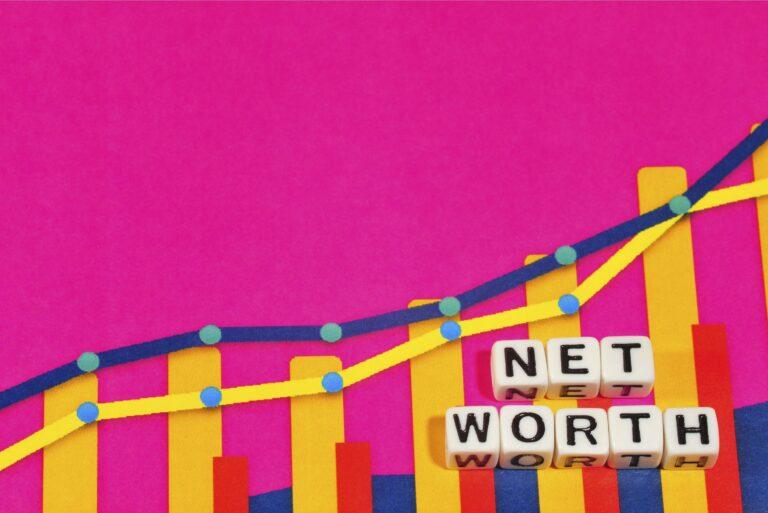 Net Worth Chart Graphs Beads Climbing Pink
