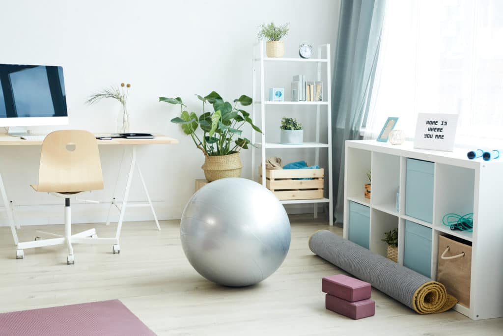 Work From Home Office Gym Mix Use Area