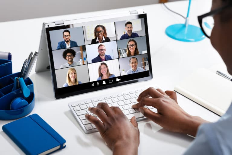 Working From Home Remote Meeting Online