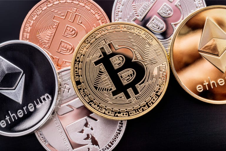 Crypto Currency Coins Bitcoin Ethereum Litecoin