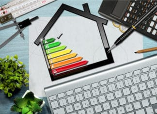 Energy Efficient Home Rating Building House Keyboard Design