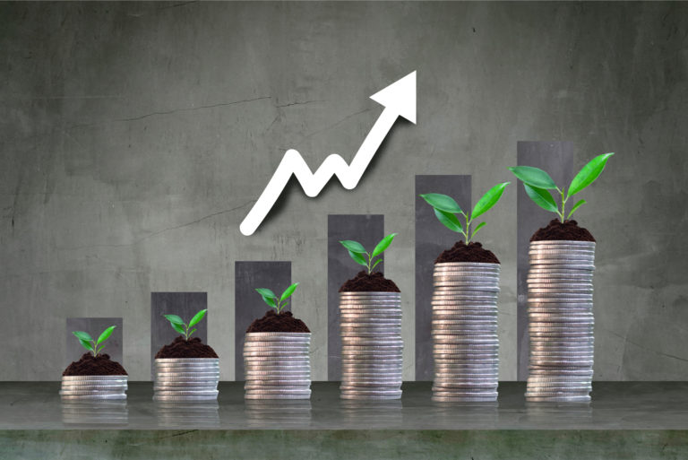 Growth Investing Profit Investment Stock Stacked Coins