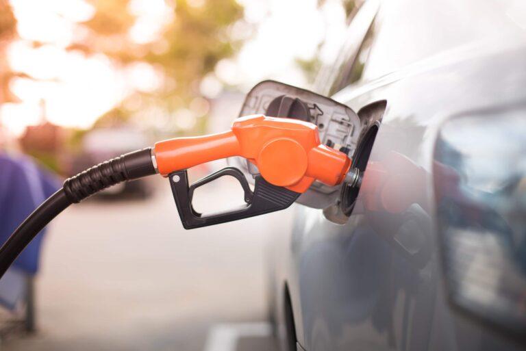 Orange Gas Pump