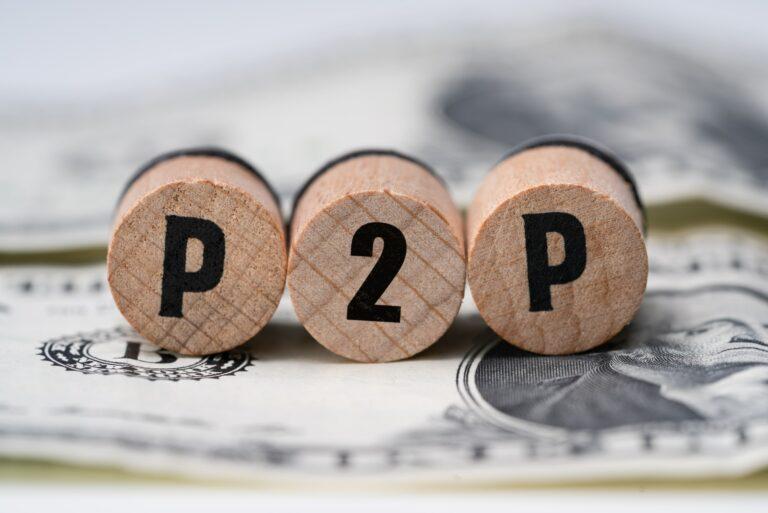 P2p Lending Letters Round Wooden Cash