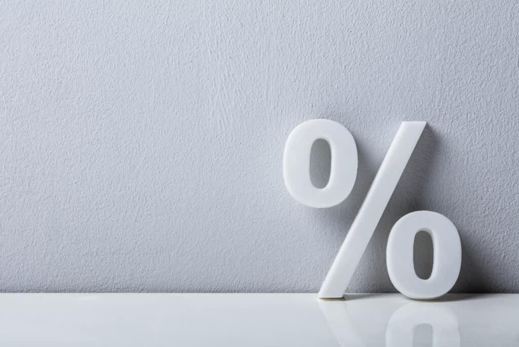Percentage Sign Percent White