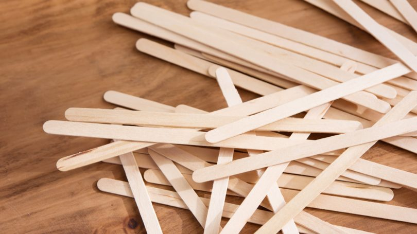 Popsicle Sticks Wooden Table Craft Educative
