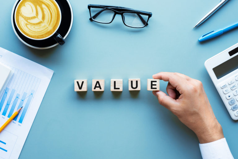 Value Block Letters Investment Investing Stock