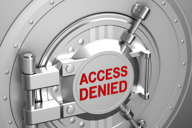 Bank Account Denied