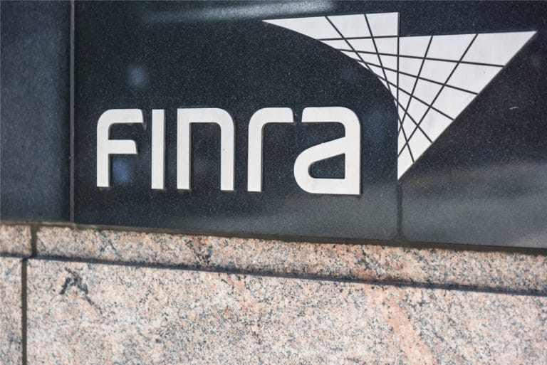 Finra Sign Displayed