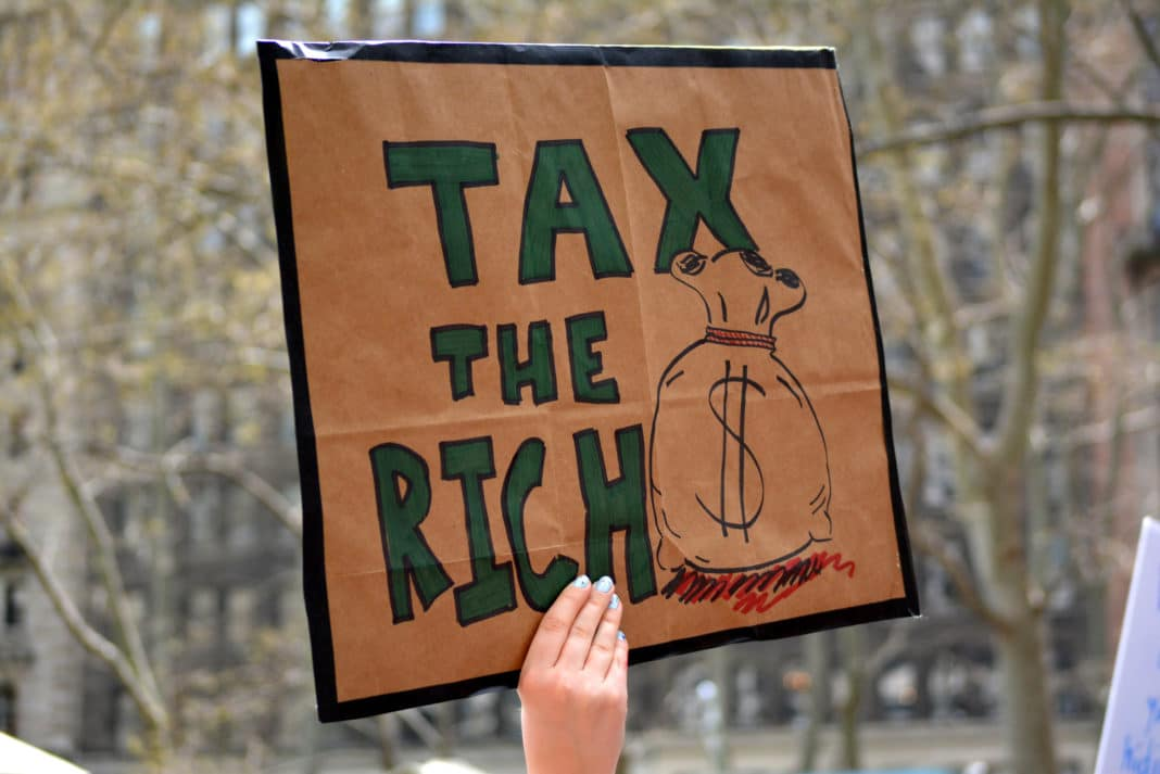 Tax The Rich Wealth Sign