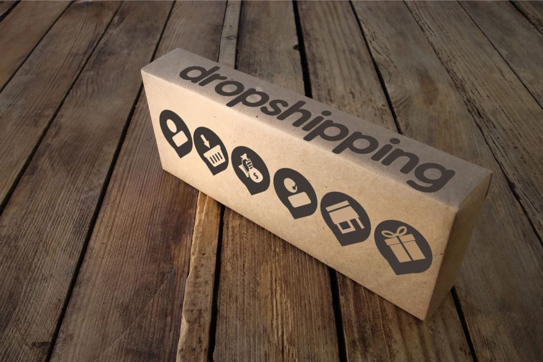 Dropshipping Box Displayed Over Deck