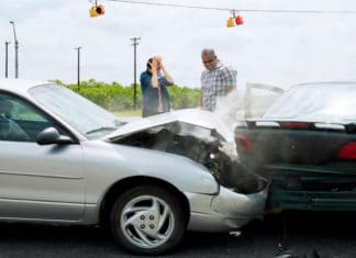 Two Cars People Collision Intersection