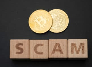 Bitcoin Displayed Above Scam Text