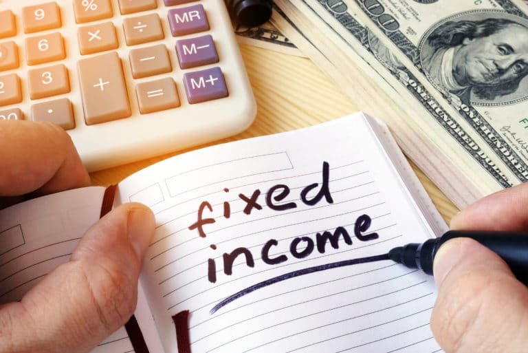 Fixed Income Text Notebook Calculator Money