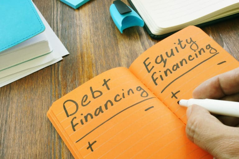 Notebook Debt Equity Financing Pros Cons