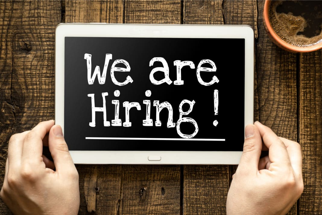 Tablet Displaying We Are Hiring