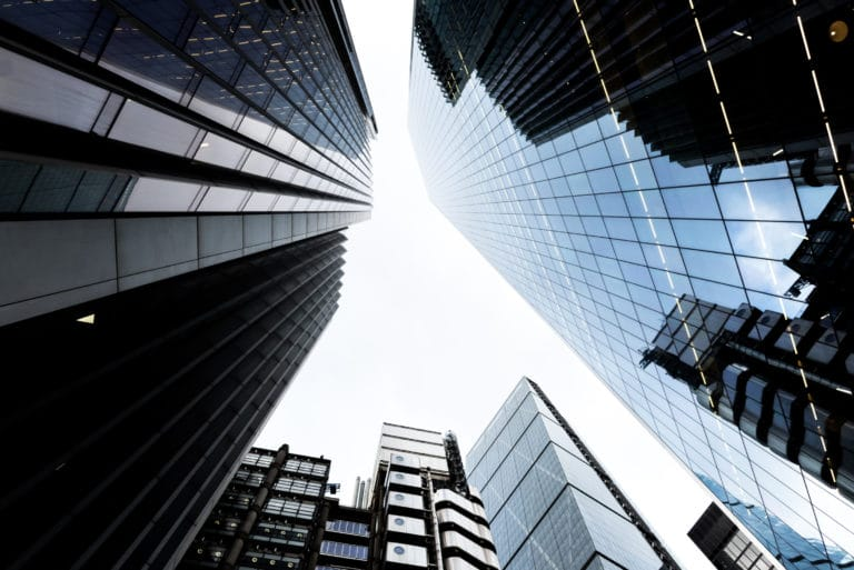 Looking Up Skyscrapers Buildings