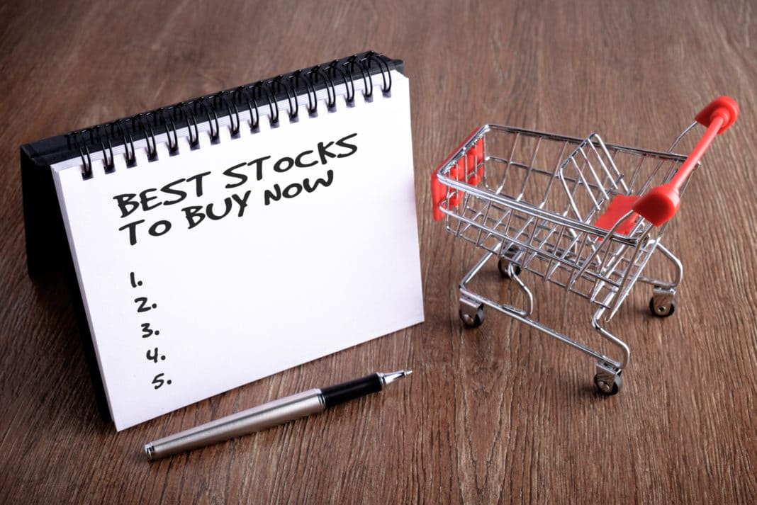 Notepad With Best Stocks Text Shopping Cart Pen