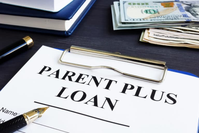 Parent Plus Loan Form And Documents In The Office.