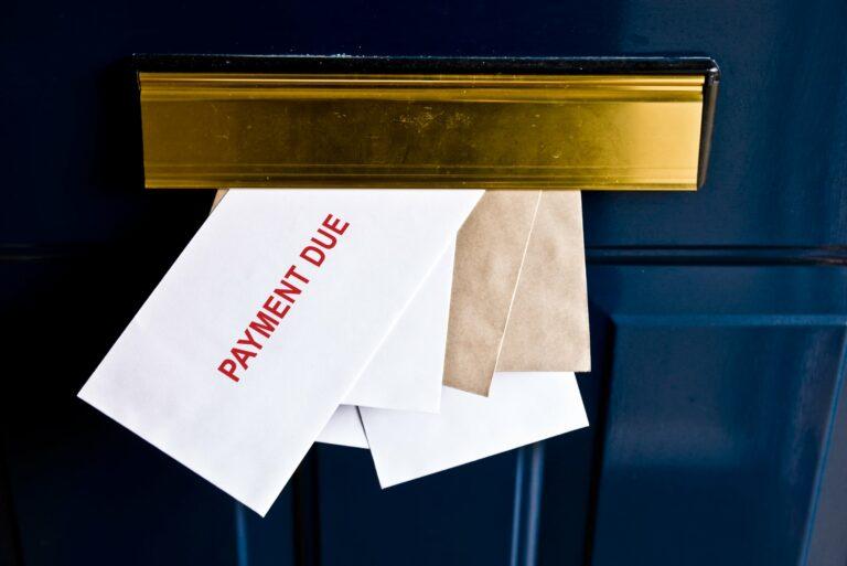 Door Mailbox Payment Due Mail