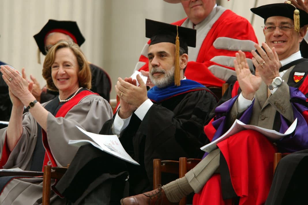 Professors Robes Sitting Clapping Hands