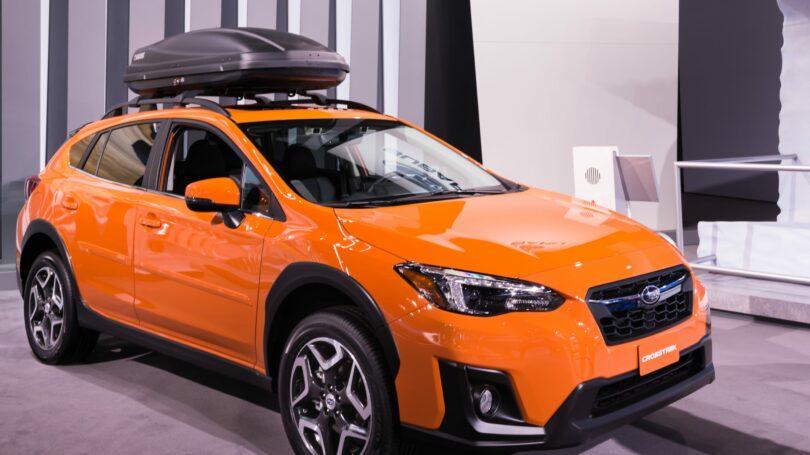 Subaru Crosstrek Orange Display