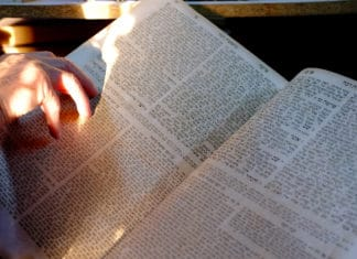 Talmud Book Open Reading Hand